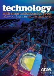 with smart solutions for sport - Atos Worldline