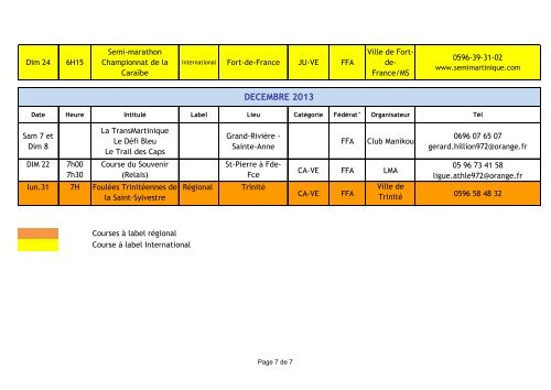 Calendrier Des Courses Hors Stade.Date Heure Intitule Labe