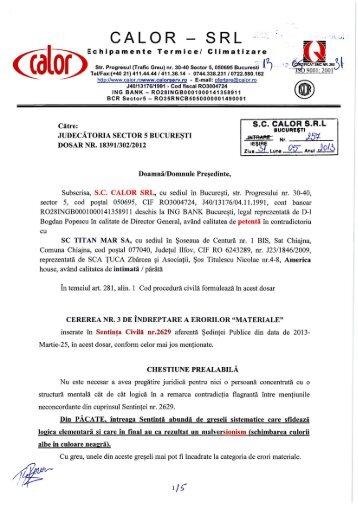 cALoR - sRL _. - Dosare Info Romania