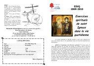 Exercices spirituels de saint Ignace dans la vie quotidienne