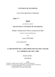 la reception de la doctrine sociale de l'eglise au cameroun de 1955 ...