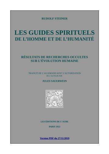 rudolf steiner les guides spirituels de l'homme et ... - Version PDF du