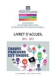 LIVRET D'ACCUEIL - Lycée Montplaisir
