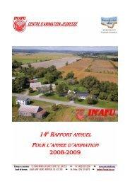 14e RAPPORT ANNUEL POUR L'ANNEE D ... - Centre IN'AFU