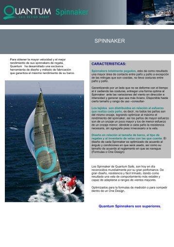 CARACTERISTICAS: Quantum Spinnakers son ... - Quantum sails