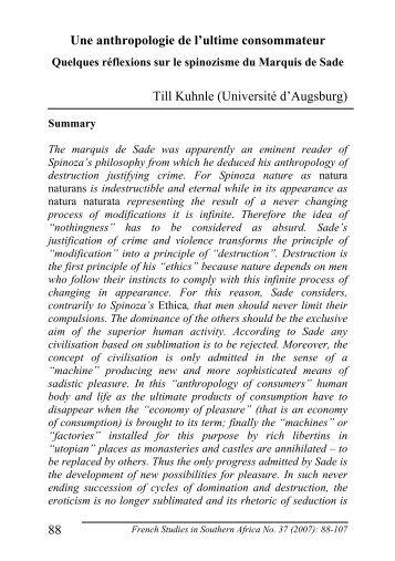 French Studies - Till R. Kuhnle