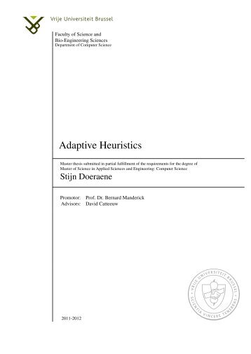 Adaptive Heuristics - Artificial Intelligence Laboratory