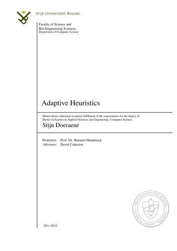 Adaptive Heuristics - Artificial Intelligence Laboratory