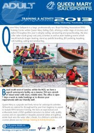 Adult Brochure - Queen Mary Sailing Club