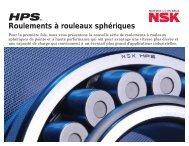 Roulements à rouleaux sphériques HPS - NSK