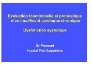 Evaluation fonctionnelle et pronostique d'un insuffisant cardiaque