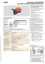 Servomoteur rotatif LR230(-S) pour vannes à boisseaux sphériques ...