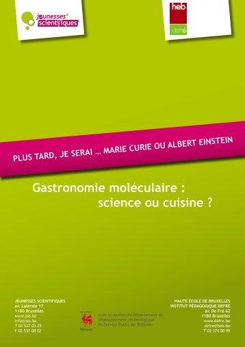 JSc- Gastronomie moléculaire - Jeunesses Scientifiques de Belgique