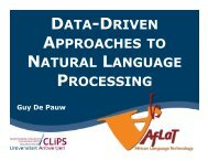 data-driven approaches to natural language processing