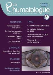 Le Rhumatologue N o 69 - Février 2009 - Fédération Française de ...