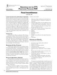 Fecal Incontinence - Rhode Island Medical Society