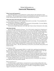 Anorectal Manometry - Patient Information