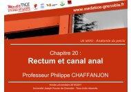 Rectum et canal anal - Université Virtuelle Paris 5