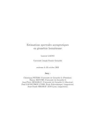 Estimations spectrales asymptotiques en géométrie hermitienne