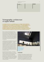 Scénographie, architecture et espace urbain Iris Reuter
