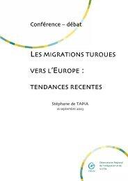 les migrations turques vers l'europe : tendances recentes - ORIV