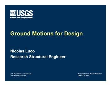 Ground Motions for Design - Earthquake Hazards Program - USGS