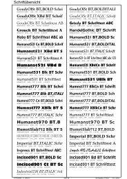 Humanst531 BT,BOLD Sch - Werbetechnik - Limmer