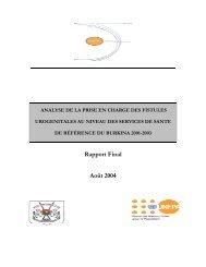 Rapport Final Août 2004 - Campaign to End Fistula