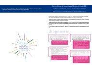 Propositions du groupe de réflexion ALLIANCE - LIR