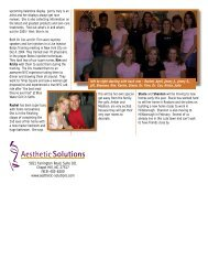 Download the Winter 2004 Newsletter - Aesthetic Solutions