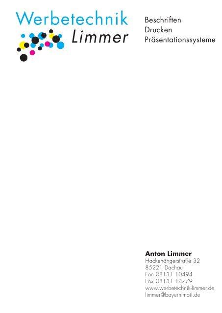 ST-Fertigungsprogramm - Werbetechnik - Limmer
