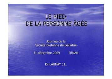 LE PIED DE LA PERSONNE ÂGÉE - SGOC
