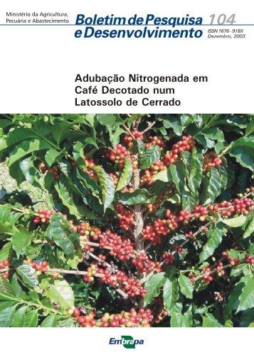 Adubação Nitrogenada em Café Decotado num ... - Ainfo - Embrapa