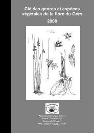Clé des genres et espèces végétales de la flore du Gers 2008