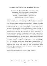 PROSPECÇÃO E CARACTERIZAÇÃO MOLECULAR E ... - Embrapa