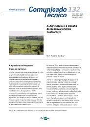 A Agricultura eo Desafio do Desenvolvimento Sustentável - Embrapa