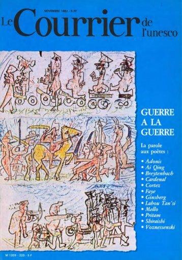 Guerre à la guerre: la parole aux poêtes; The ... - unesdoc - Unesco