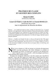 PRATIQUE DE CLASSE ET GESTION DES CONFLITS - IUFM de l ...