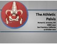 The Athletic Pelvis - American Academy of Osteopathy