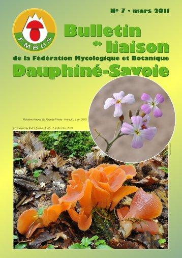 Bulletin de Liaison N7 mars 2011 FMBDS - Société Mycologique et ...