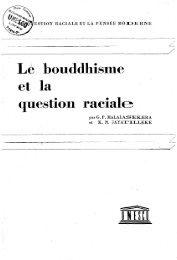 Le Bouddhisme et la question raciale; Question ... - unesdoc - Unesco