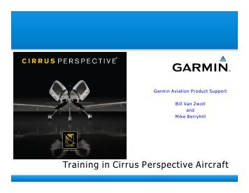 Training in Cirrus Perspective Aircraft