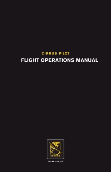 Flight Operations Manual - Air Trek North