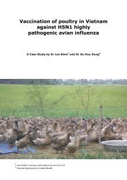 Vaccination of poultry in Vietnam against H5N1 highly pathogenic ...