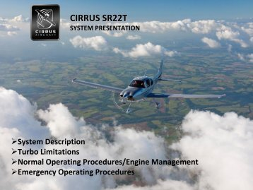 SR22T (TCM Turbo-charged) Presentation - Finally, it's all about you ...