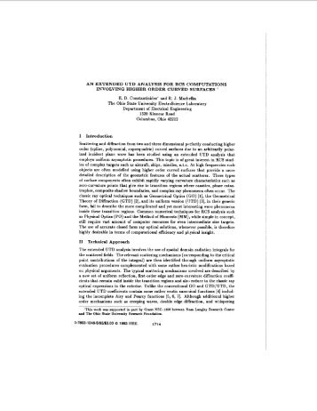 An extended UTD analysis for RCS computations involving higher ...