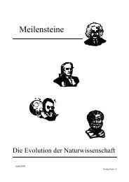 Gedanken und Anmerkungen zur Evolution der ... - Aj-dons.de