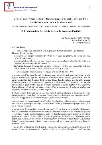 texte à télécharger (format PDF) - Centre Paul Duvigneaud