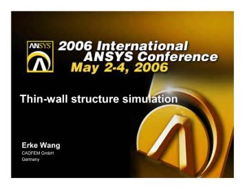 Thin-Wall Structure Simulation - Ansys