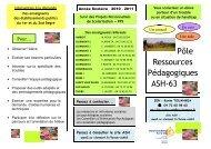 Pôle Ressources Pédagogique ASH 63